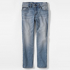 Lands' End - Blue boys' slim fit iron knee jeans