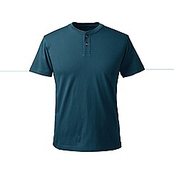 Lands' End - Blue regular short sleeve super-t henley
