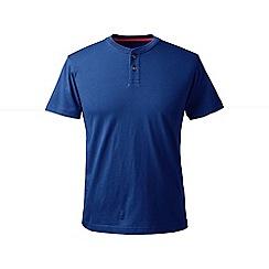 Lands' End - Blue regular short sleeve super-t henley