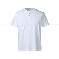 Lands' End - White regular short sleeve super-t henley