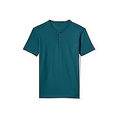 Lands' End - Green regular short sleeve super-t henley