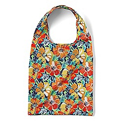 Lands' End - Orange patterned perfectly packable shopper