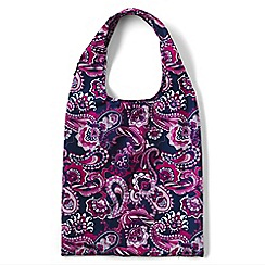Lands' End - Purple patterned perfectly packable shopper