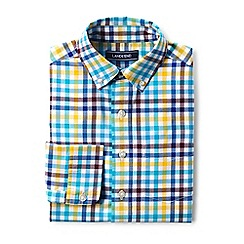 Lands' End - Boys' multi poplin long sleeve shirt
