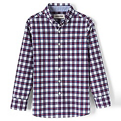 Lands' End - White boys' buttondown poplin shirt