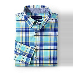 Lands' End - Blue boys' buttondown poplin shirt