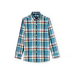 Lands' End - Boys' blue button down poplin shirt