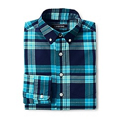 Lands' End - Boys' blue poplin long sleeve shirt