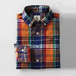 Lands' End - Orange little boys' buttondown poplin shirt