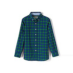 Lands' End - Green boys' buttondown poplin shirt
