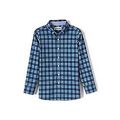 Lands' End - Blue boys' buttondown poplin shirt