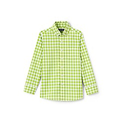 Lands' End - Boys' green buttondown poplin shirt