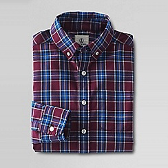 Lands' End - Red boys' buttondown poplin shirt