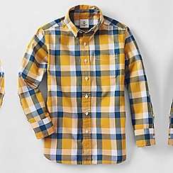 Lands' End - Gold boys' buttondown poplin shirt