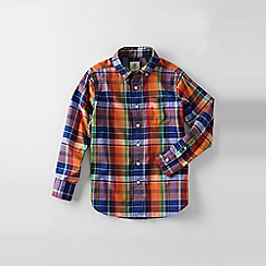 Lands' End - Orange boys' buttondown poplin shirt