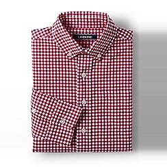 Lands' End - Boys' red poplin long sleeve shirt