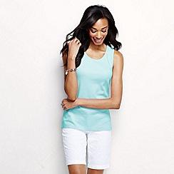 Lands' End - Blue women's cotton interlock vest