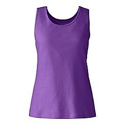 Lands' End - Purple cotton interlock vest