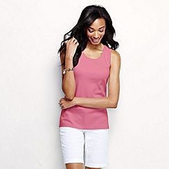 Lands' End - Pink women's cotton interlock vest