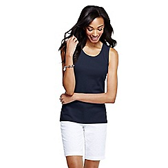 Lands' End - Blue women's cotton interlock vest