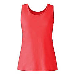 Lands' End - Red cotton interlock vest