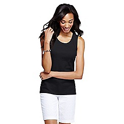 Lands' End - Black women's cotton interlock vest