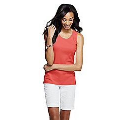 Lands' End - Orange women's cotton interlock vest