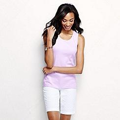 Lands' End - Purple women's cotton interlock vest