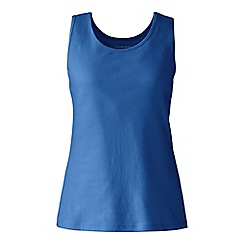 Lands' End - Blue cotton interlock vest