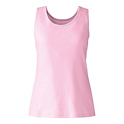 Lands' End - Pink cotton interlock vest