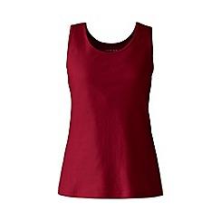 Lands_End_Women - Red cotton interlock vest