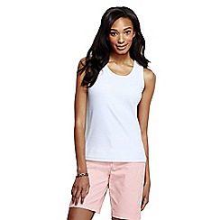 Lands' End - White women's cotton interlock vest