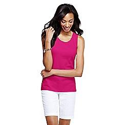 Lands' End - Pink women's petite cotton vest top