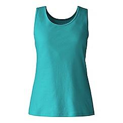 Lands' End - Green petite cotton vest top