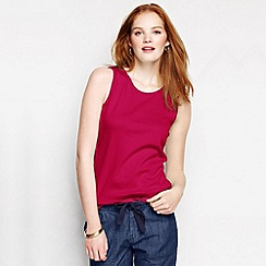 Lands' End - Red women's petite cotton vest top