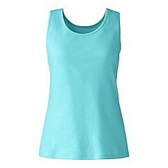 Lands' End - Plus size Blue plus cotton vest top