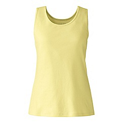 Lands' End - Plus size Gold plus cotton vest top