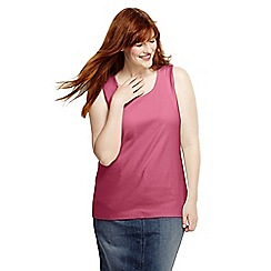 Lands' End - Pink women's plus cotton vest top