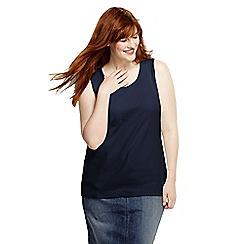 Lands' End - Blue women's plus cotton vest top