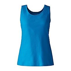 Lands' End - Blue plus cotton vest top