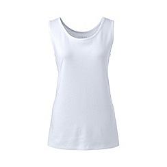 Lands' End - White women's plus cotton vest top