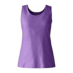 Lands' End - Purple plus cotton vest top