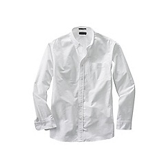 Lands' End - White tall  sail rigger oxford shirt
