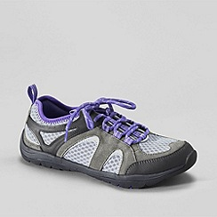 Lands' End - Grey women's trekker light trail shoes