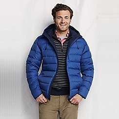 Lands' End - Blue men's reversible squall jacket