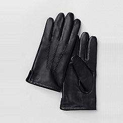 Lands' End - Black men's cashmere-lined leather gloves