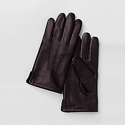 Lands' End - Brown men's cashmere-lined leather gloves