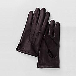 Lands' End - Brown men's cashmere-lined leather gloves