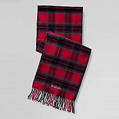 Lands' End - Red men's cashtouch plaid scarf