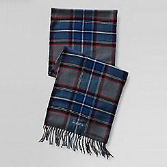 Lands' End - Blue men's cashtouch plaid scarf